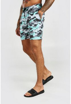 Light grey Camo Cargo Short