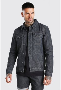 Charcoal Regular Denim Western Jacket