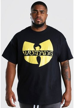 Black Big And Tall Wu-Tang Clan Print T-Shirt
