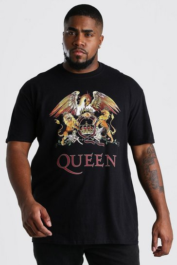 Black Big And Tall Queen Print T-Shirt
