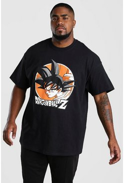 Camiseta de Dragon Ball Z Big & Tall, Negro