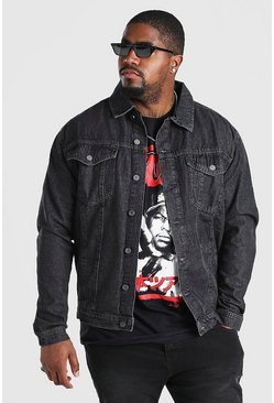 Charcoal Big And Tall Regular Denim Western Jacket