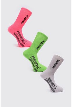 Multi MAN Official 3 Pack Sock