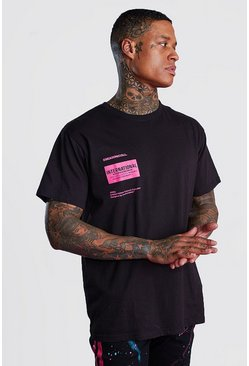 "Black MAN ""International"" Oversize t-shirt med tryck"