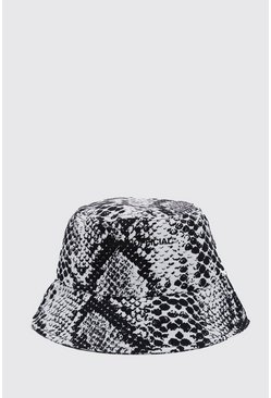 Black MAN Official Printed Bucket Hat