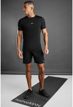 Black MAN Active T-Shirt And Short Set