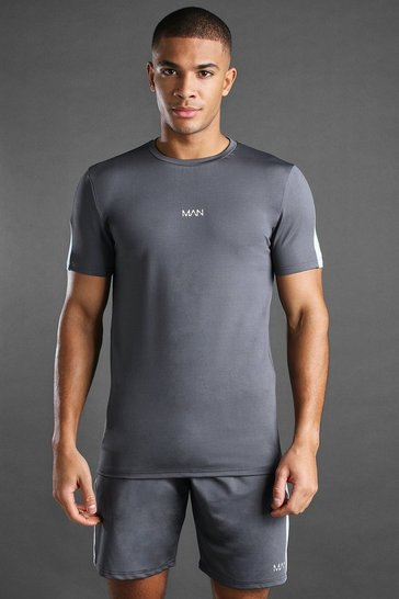 Charcoal MAN Active T-Shirt And Short Set