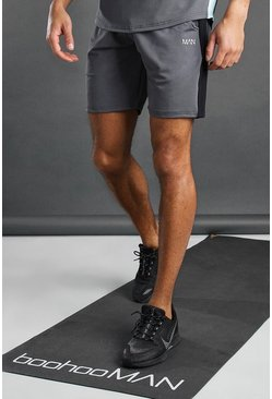 Charcoal MAN Active Short With Panel Detail