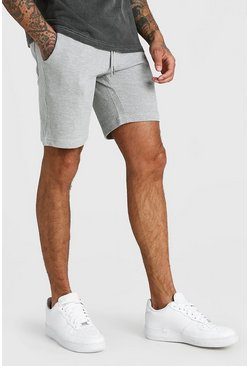 Grey MAN Signature Pique Mid Length Short