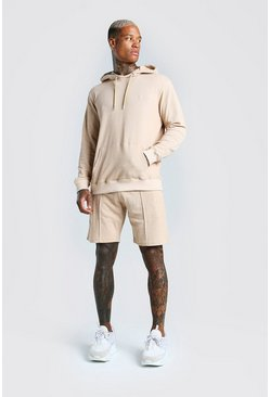 Stone MAN Signature Hoodie & Pintuck Short Set