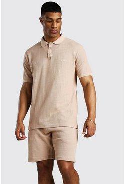 Stone MAN Signature Pique Polo & Short Set