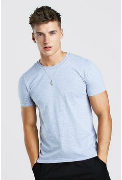 Grey Basic Crew Neck T-Shirt