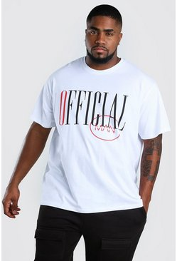 T-shirt coupe ample MAN officiel Grandes Tailles, Blanc