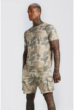 Khaki Original MAN Camo Cargo Short Set