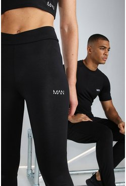 Black Hers Active Legging With Cross Waistband