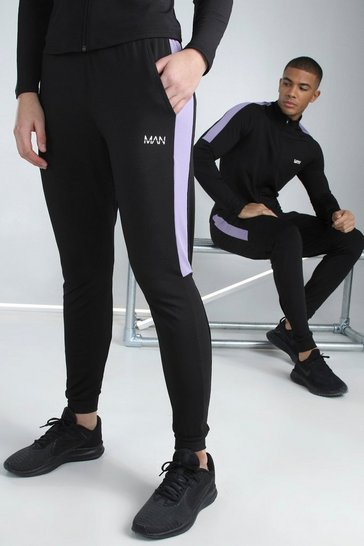 Black Hers Active Skinny Fit Jogger With Side Panel