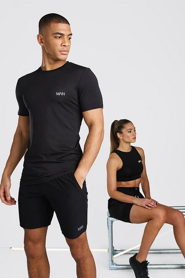 Black His Active Muscle Fit T-Shirt