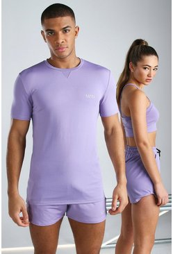 Purple His Active Muscle Fit T-Shirt