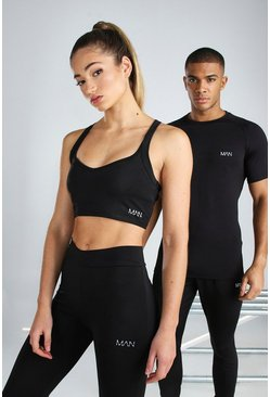 Black Hers Active Sports Bra