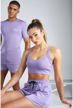 Purple Hers Active Sports Bra