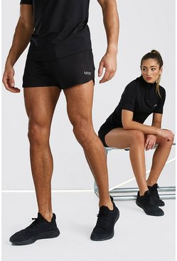 Black His Active Runner Short
