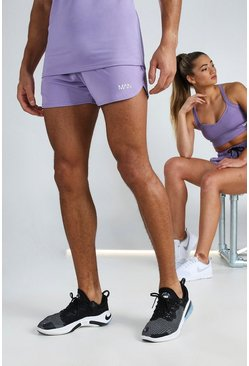 Purple His Active Runner Short