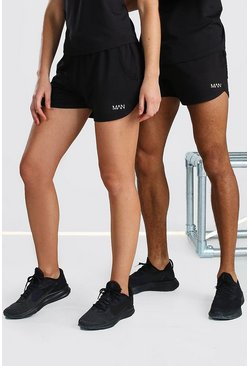 Black Hers Active Runner Short