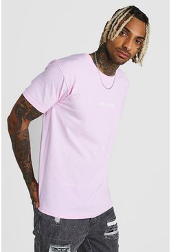 T-shirt con scritta Life Is Good, Rosa