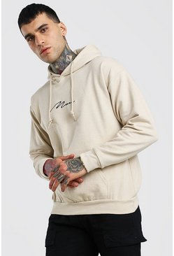 Sand MAN Signature Embroidered Hoodie