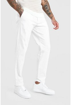 White Slim Fit Chino Trouser