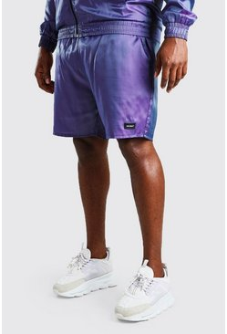 Purple Big And Tall MAN Iridescent Shell Shorts
