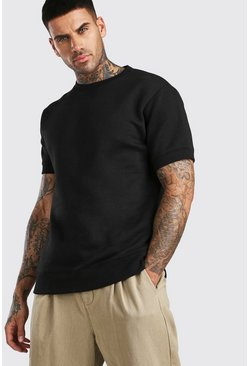 Black Short Sleeve Sweatshirt