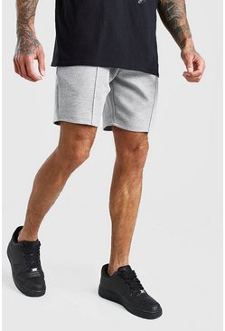 Grey MAN Signature Scuba Pintuck Shorts