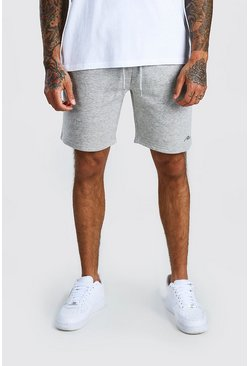 Grey marl MAN Signature Relaxed Fit Jersey Short