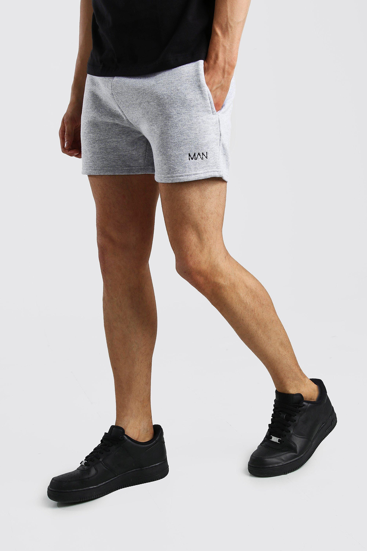mens original man short length jersey shorts - grey