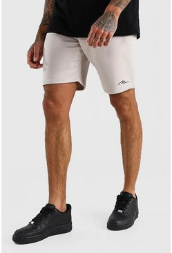 Stone MAN Signature Mid Length Jersey Shorts