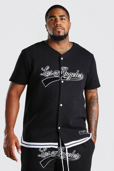 Black Big And Tall Los Angeles Jersey T-Shirt
