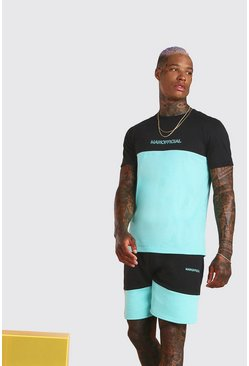 Mint MAN Official Colour Block Short Set