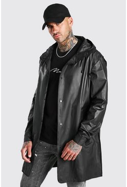 Black Lightweight Zip Through Parka