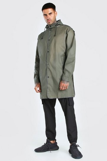 Khaki Lightweight Zip Through Parka