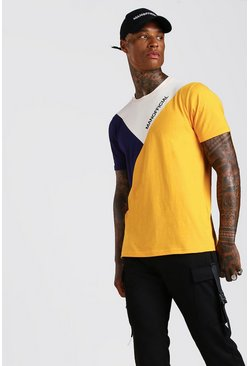 Mustard MAN Official Colour Block T-Shirt