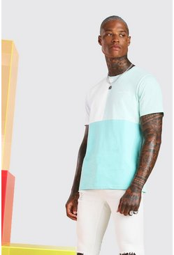 Mint MAN Official Multi Colour Block T-Shirt