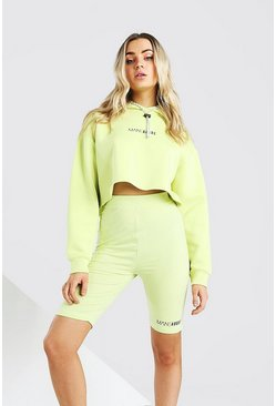 Yellow Abode Ladies Cropped Hoodie