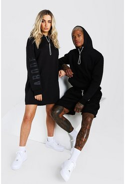 Black Abode Ladies Hoodie Dress