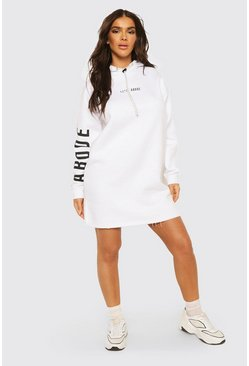 White Abode Ladies Hoodie Dress