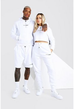 White Abode Hooded Short Tracksuit