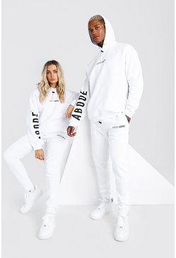 White Abode Oversized Hooded Tracksuit