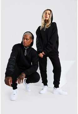 Black Abode Ladies Oversized Hooded Tracksuit