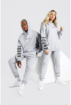 Grey marl Abode Ladies Oversized Hooded Tracksuit