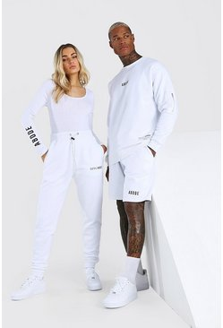White Abode Relaxed Utility Sweater And Short Set